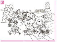 Раскраска Зимние сани