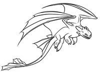 Раскраска Злобный дракон