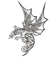 Раскраска Злой дракон