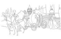 Раскраска Золушка-принцесса Диснея