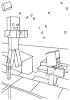 Раскраска Зомби Minecraft