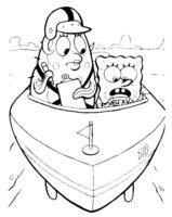 Раскраска Звезда Патрик в штанах Губки Боба