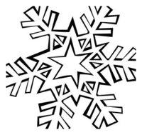 Раскраска Звездная снежинка