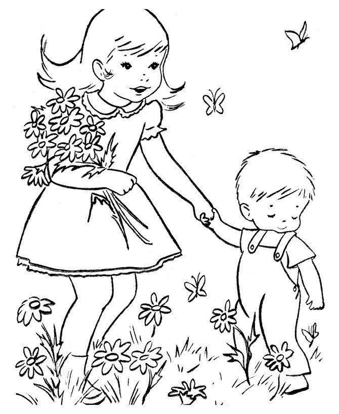 Раскраска Цветы 8 марта