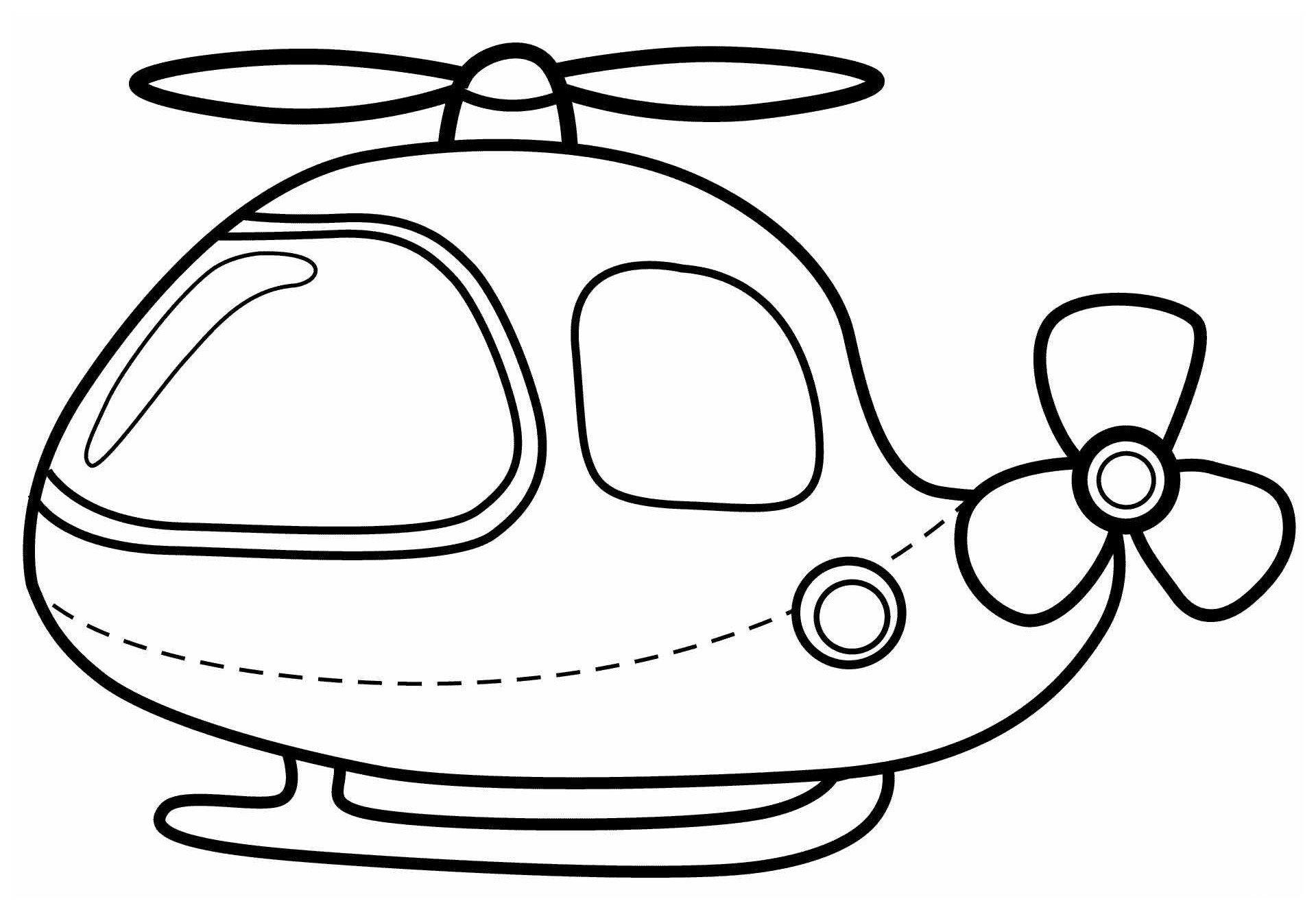 Раскраска Вертолёт
