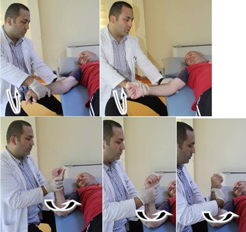 Felçte ön-kol pronasyon-supinasyon egzersizleri
