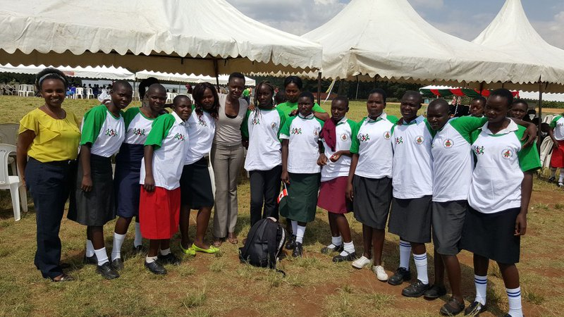 Ruth Koshal, school girls, and participants at the Day of the African Child celebrations at Migori Primary School | Photo credit: Girls Not Brides