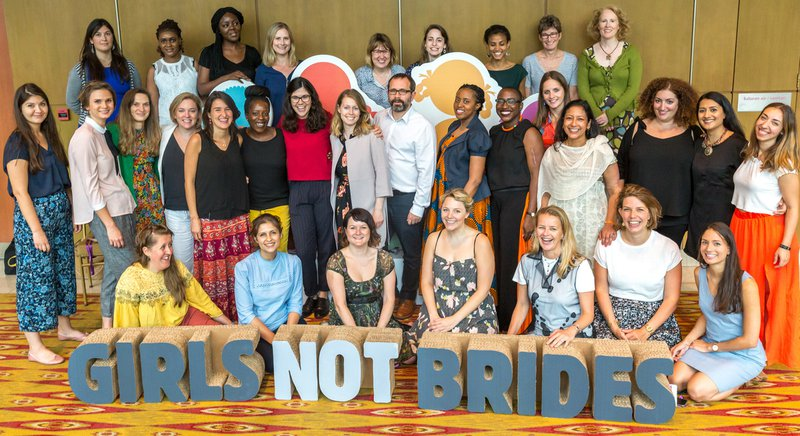 Group of Girls Not Brides' staff at our global meeting in Malaysia, 2018