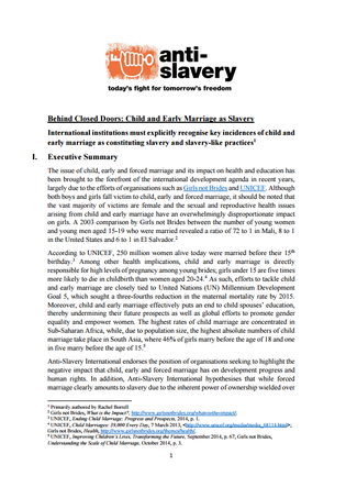 Anti-slavery behind closed doors