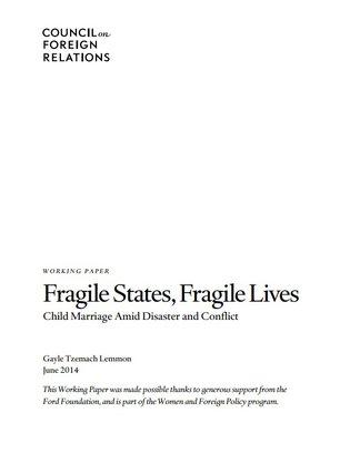 CFR - Fragile states, fragile lives