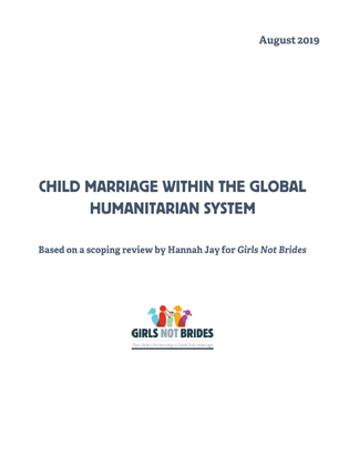 Child marriage within the global humanitarian system_cover image