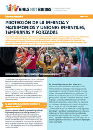 Child Protection and Child Marriage cover ESP
