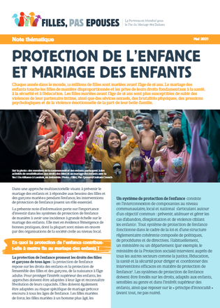 Child Protection and Child Marriage cover FR