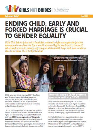 Cover gender equality brief