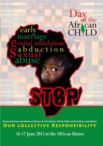 Day of the African Child - June 16 - African Union - End child marriage