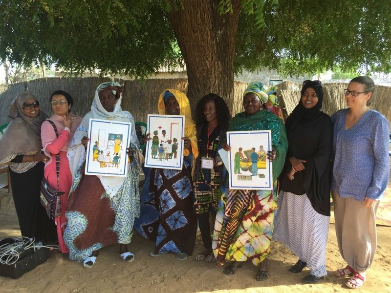 Girls Not Brides members take part in a learning exchange with Tostan in Senegal.