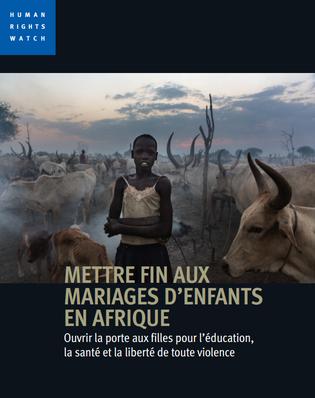 HRW - mariages des enfants Afrique