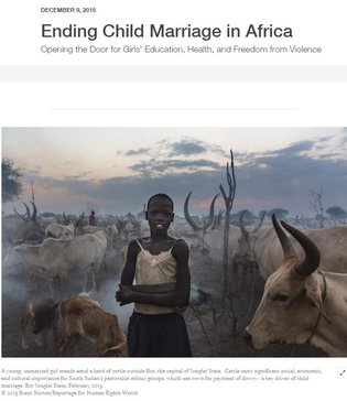 HRW - web report on CM in Africa