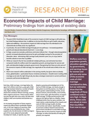 ICRW, World Bank - Econ impacts of CM