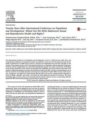 Journal of adolescent health