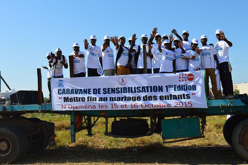 Adam organised a similar caravan in the capital city of Chad, N'Djamena. Photo credit: AJAC.