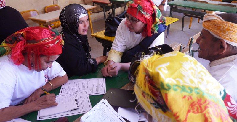 The legal commission logs citizen's complaints and civil registration status. Photo credit: Girls Not Brides.