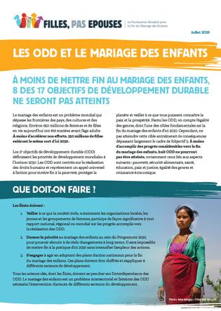 Les ODD et le mariage des enfants_Cover image