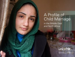 Cover of a UNICEF report about child marriage in the Middle East