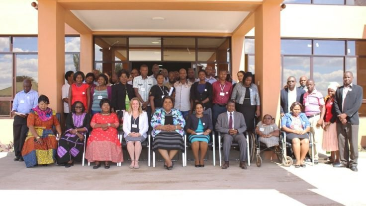 The Malawi National Partnership to End Child Marriage and representatives from Girls Not Brides with the Minister of Gender in June 2017.