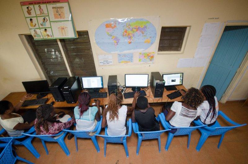 Computer classes in progress © NIGEE
