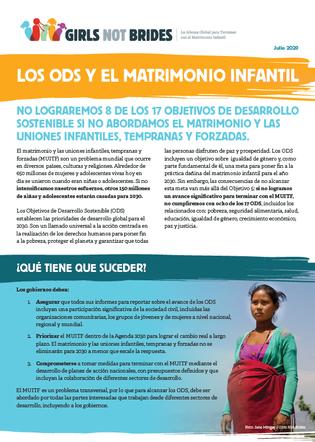 ODS y el matrimonio infantil_Cover image