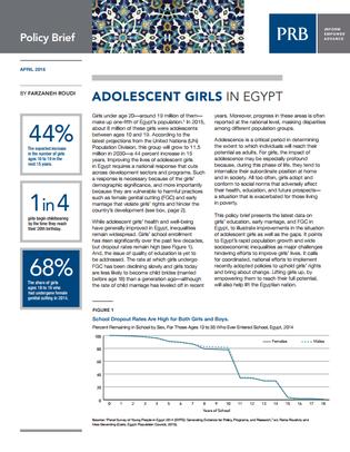 PRB - adolescent girls in Egypt
