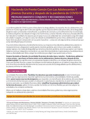 Pronunciamiento conjunto_Cover image
