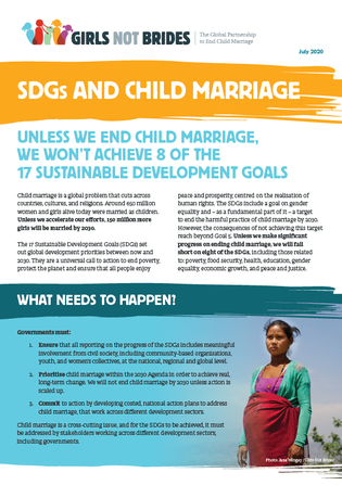 SDG and child marriage_Cover image