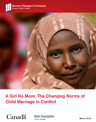 Women's Refugee commission - conflict CM