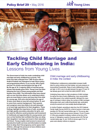 Young Lives - child marriage, early childbearing india - may 16