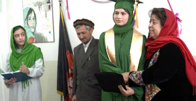 Yalda at her graduation ceremony. | Photo credit: Principle Pictures