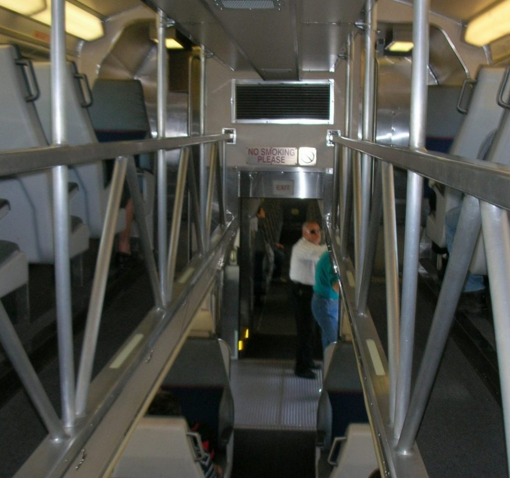 An example of a gallery rail car. Photo: Hydrogen Iodide.