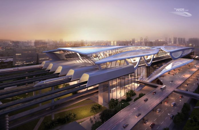 A computer generated image of the planned Bandar Malaysia station. Photo: MyHSR.