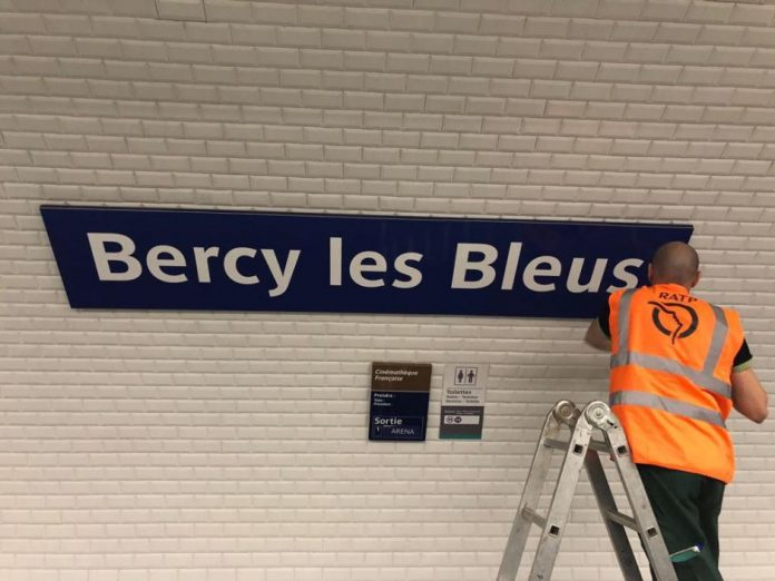 Bercy station has been renamed Bercy les Bleus. Photo: RATP.