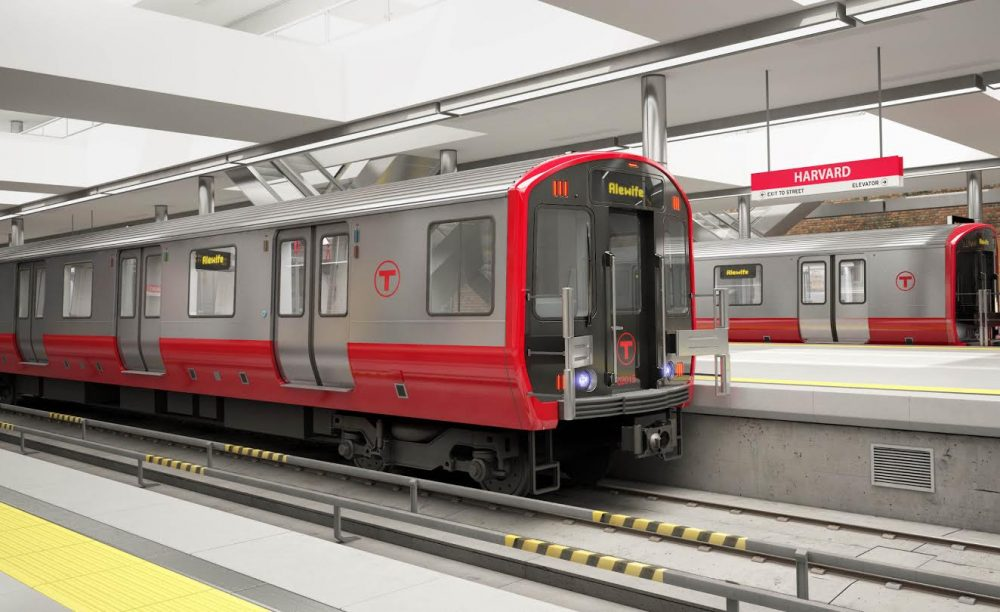 A computer generated image of the new Red Line trains. Photo: MBTA.