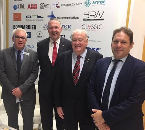 L-R: RIA exports director Neil Walker, ARA CEO Danny Broad, ARA chair Bob Herbert, and RIA CEO Darren Caplan. Photo: RIA.