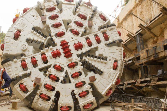 A stock photo of a tunnel boring machine. Photo: Manu Bahuguna.