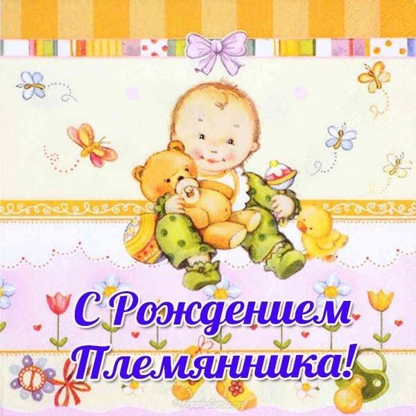 Парню, открытка родился племянник