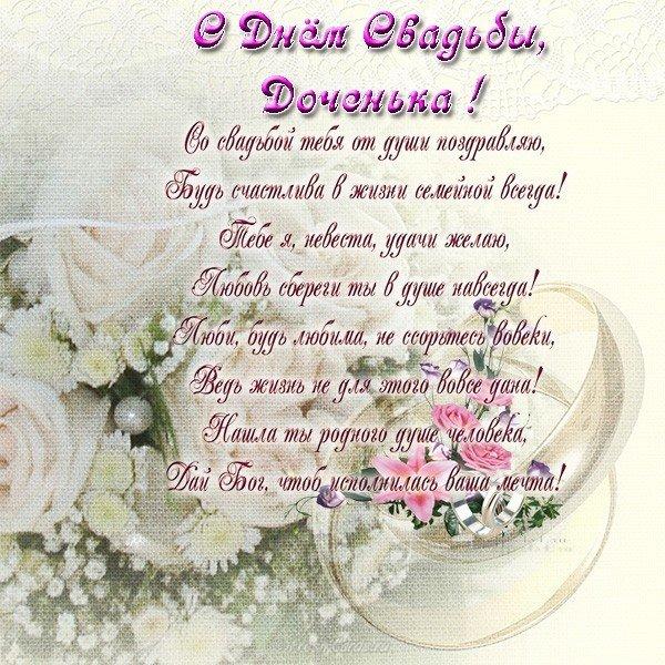 Открытка поздравление с днем свадьбы дочери