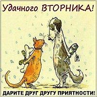 Бесплатная открытка удачного вторника