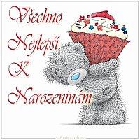Чешская открытка с днем рождения
