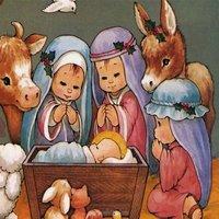 Детский рисунок рождественская открытка
