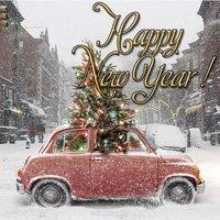 Европейская открытка с новым годом