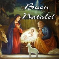 Итальянская открытка с рождеством